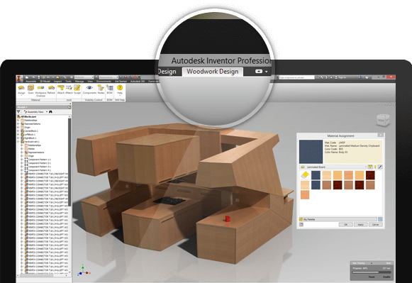 Home woodwork for inventor for Furniture building software