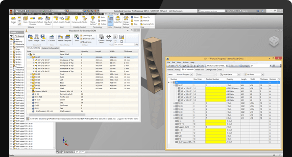 Data integration with the Autodesk Vault program