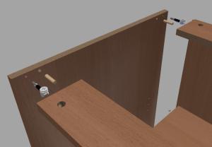Tworzenie połączeń z użyciem elementów typu minifix / kołek